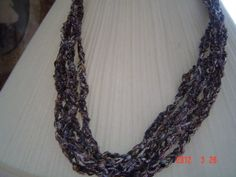 crochet ladder yarn necklace