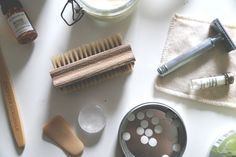 Her Zero Waste Bathroom Essentials Bathroom Essentials, Kitchen Essentials, Plastic Free July, Green Living Tips, Natural Cleaning Products, Green Life, Mindful Living, Sustainable Living, Natural Living