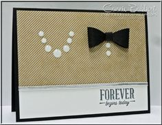 I was inspired by a card I saw on Pinterest and I've been wanting to make it for a LONG time with Stampin' Up! materials, but haven't had the need for a wedding card. When I saw the theme for the SUO