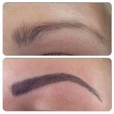 Hairstroke semi permanent brows