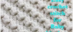 This beautiful stitch is not only very nice and very pretty but it's also reversible and very easy, a truly beginner friendly crochet stitch. Learn how to do this fast and easy beginner's crochet shells stitch that is ideal for baby blankets, baby sweaters, baby booties, baby beanies, baby hats, baby dress, and so much …