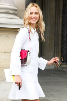 White pieces in Paris #streetstyle