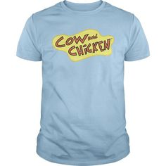 Cow And Chicken Logo - #easy gift #candy gift. CHEAP PRICE => https://www.sunfrog.com/TV-Shows/Cow-And-Chicken-Logo-Light-Blue-Guys.html?68278