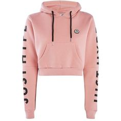 Dusty Pink Cropped Cut Out Hoodie by Hype ($51) ❤ liked on Polyvore featuring tops, hoodies, jackets, cropped hoodies, cropped hooded sweatshirt, pink hoodies, pink top and cotton hoodie