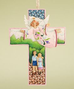 Guardian Angel Cross Ornament by Jim Shore on zulily blow-out sale: home