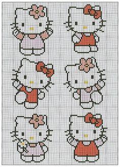 Hello Kitty cross-stitch pattern.