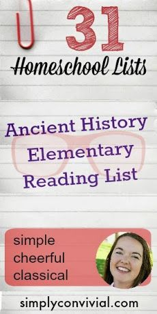 Ancient History elementary reading list
