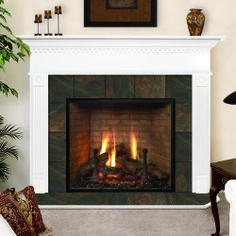 WoodEze Sterling Black Cherry Fireplace Mantel