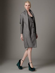 Textured Wool Drape Back Coat by Ports 1961 at Gilt