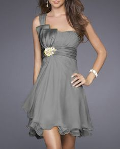 short grey dress