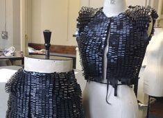 Kai Yeung Yau Video Tape Clothing, Recycled magnetic tape clothing, recycled video tape textiles, green design, eco design, sustainable desi...