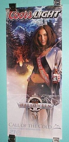 "24"" Coors Light beer sexy girl bar pin-up woman poster:Hot Halloween Queen woman #Posters"