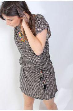 Robe tunique imprimé Triangle