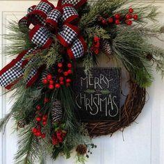 New diy christmas door wreaths holidays 62 Ideas Christmas Wreaths For Front Door, Christmas Door Decorations, Holiday Wreaths, Christmas Ornaments, Winter Wreaths, Spring Wreaths, Summer Wreath, Front Door Wreaths, Christmas Arrangements