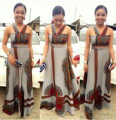 Dashiki ~African fashion, Ankara, kitenge, African women dresses, African prints, Braids, Nigerian wedding, Ghanaian fashion, African wedding ~DKK