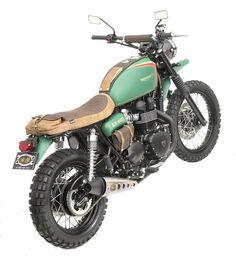 "Triumph Bonneville Street Tracker ""Alos Barber"" - Alosgroup #motorcycles #streettracker #motos | caferacerpasion.com"