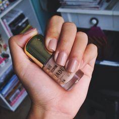esmalte nails tumblr granado cute - nude polish nails