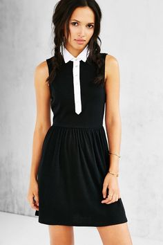 Cooperative Collared Button-Front Frock Dress - Urban Outfitters