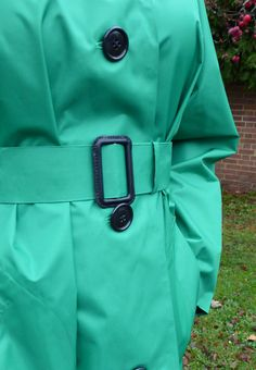 A Classic ladies lightweight mack straight from the heyday of pretty rainwear. Available in three colours: Red, Emerald Green, and Sage Green. Mackintosh Raincoat, Rain Cape, Rubber Raincoats, Shops, Raincoats For Women, Rain Wear, Emerald Green, Women Wear, Lady