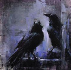 Raven S Featured Artist… Lindsey Kustusch! Crow Art, Raven Art, Bird Art, Crow Painting, Painting & Drawing, Abstract Paintings, Corvo Tattoo, Arte Obscura, Crows Ravens