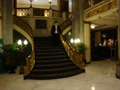 beautiful old hotel staircase