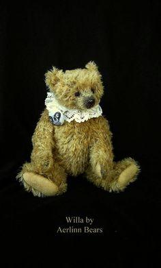 Willa, One Of a Kind Mohair Artist Teddy Bear from Aerlinn Bears