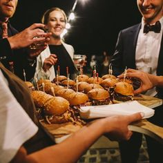 Pulled pork sliders with coleslaw & green onion chutney in a brioche bun - photo by Brioche Bun, Pulled Pork Sliders, Green Onions, Coleslaw, Caramel Apples, Chutney, Finger Foods, Catering, Events