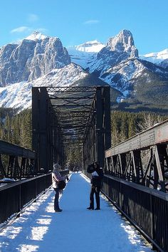 Engine Bridge - Canmore, Alberta, Canada (go, relive childhood memories of asking parents where Mike lived) Oh The Places You'll Go, Great Places, Places To Travel, Beautiful Places, Places To Visit, O Canada, Canada Travel, Alberta Canada, Calgary