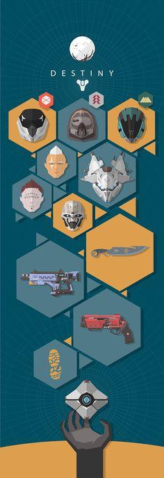 Destiny the Game flat illustration on Behance