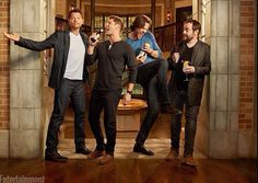Why does Misha look so tall? I mean, I know Jared is scrunched up, but Misha looks taller than Jensen... is it the boots?