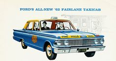 1962 Ford Fairlane Taxicab (Pine Hills Taxi) by aldenjewell, via Flickr
