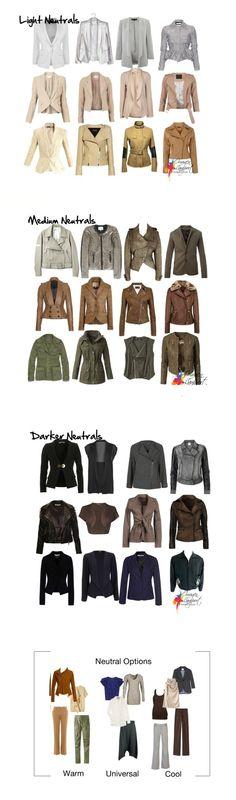 Colores base en chaquetas para mujeres