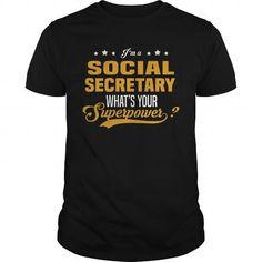 I Love Social Secretary T-Shirts