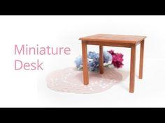 [miniature] 미니어쳐 가구 만들기 - 미니어쳐 책상 만들기 DIY by리아루아 - YouTube