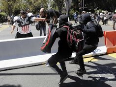 They are no better than the alt right. They are not helping this country. They're not on our side. They're violent just like the other side. And what the hell is wrong with you Berkeley?!? FREE SPEECH! You're supposed to be liberal! Not allowing free speech is fascist !