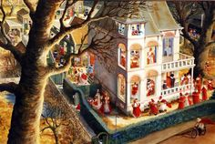 "Illustration by Charlotte Dematons from the book ""Sinterklaas"" Christmas In Holland, Good Old, Childrens Books, Illustration Art, Book Illustrations, Drawings, Pictures, Painting, Image"
