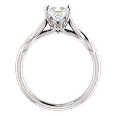 This ring is created with Charles & Colvard Forever Brilliant Moissanite, the world's finest grade of moissanite in never-before-seen, near-colorless gems, and up to four shades whiter than Classic Mo
