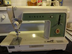 Vintage 1960's Singer Touch Sew Model # 639 Sewing Machine Parts or Repair USA #SINGER