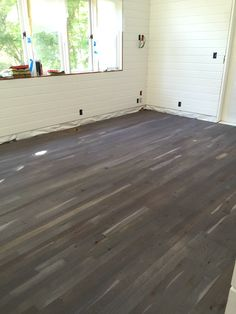Floors - steel wool and vinegar - I love the rustic look & the variations of the the boards.  Also, dirt and sand don't stand out.