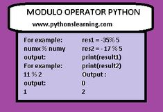 Modulo Operator python Positive Numbers, Negative Numbers, Prime Numbers, How Do You Find, Data Visualization, Python, Mathematics, Positivity