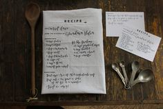 Heirloom Recipe Card + Cloth Gift Set hand-lettered by @Erica Cerulo Loesing #familyrecipes