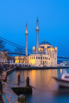 Ortaköy Square at dusk. Visit Istanbul, Turkey Art, Hagia Sophia, Beach Wallpaper, Turkey Travel, Istanbul Turkey, Mosque, Dusk, The Good Place