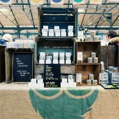 We love the @thebeardedcandlemakers stall - earthy, natural and rustic! Love it!