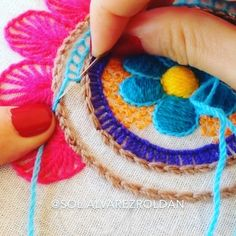 Crochet Necklace, Embroidery, Instagram, Sun, Embroidery Designs, Embroidery Ideas, Hand Embroidery, Felt Pillow, Chains
