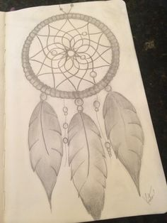Dream Catcher drawing by me <3