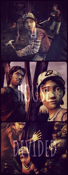 Telltale game's The Walking Dead (S2) : A House Divided (Ep 2) : Clementine & Luke #TWDG #MyPhotoEdit
