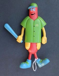 Vintage 1994 Nathan's Famous Hot Dog Advertising Figures