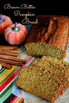 Brown Butter Pumpkin Bread made 2 of these today with and without walnuts the house smells great <3