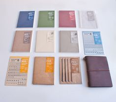 Midori Traveler's Notebook Series  has a cult following, and we can see why! Start off with a single notebook in its handsome leather cover, then add refills and add-ons and customize to your heart's content.