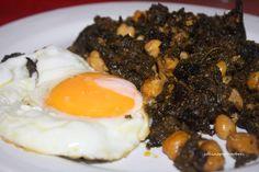 Cocina para pobres: Espinacas con garbanzos
